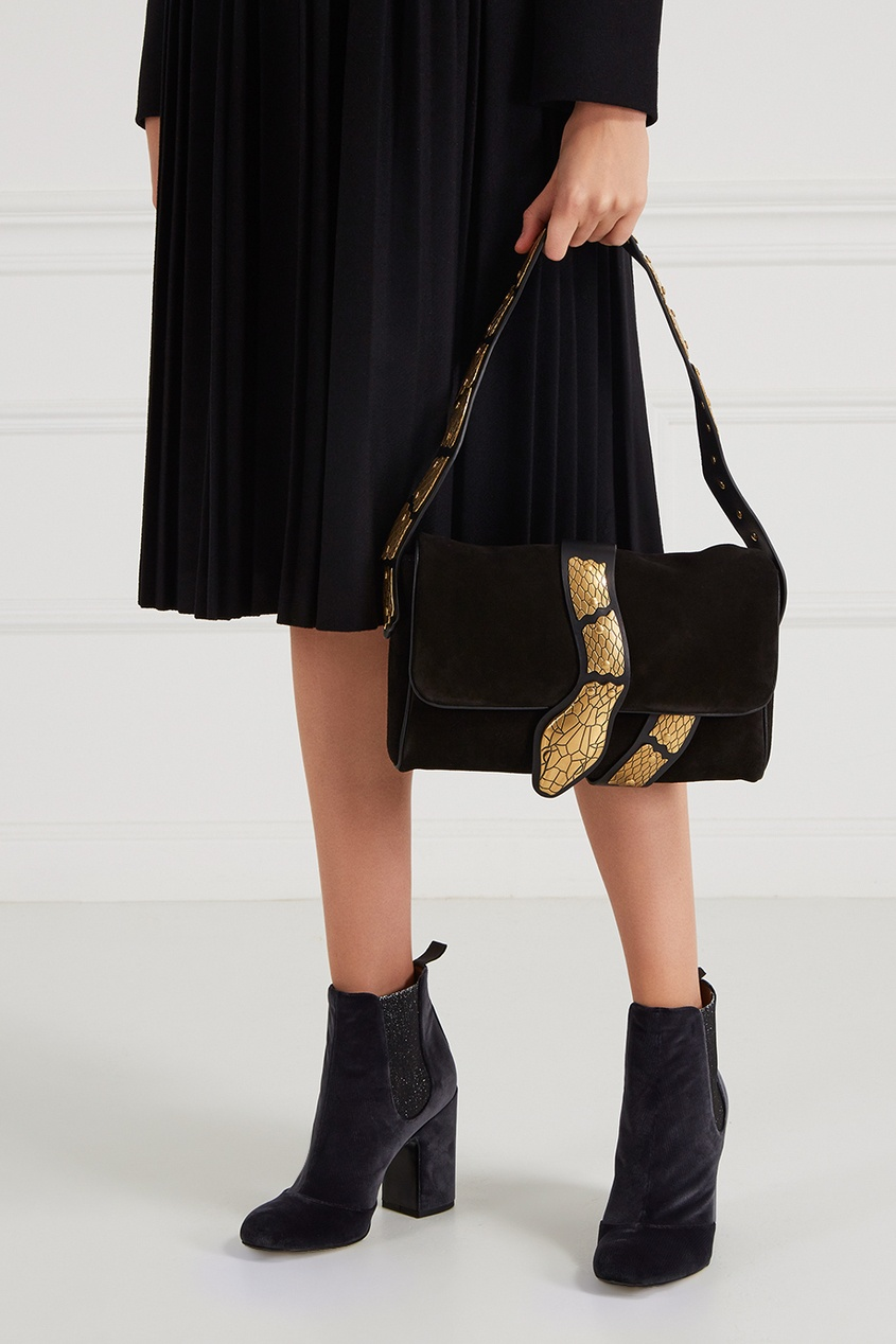 Red Valentino Замшевая сумка с декором сумка черная замшевая фото