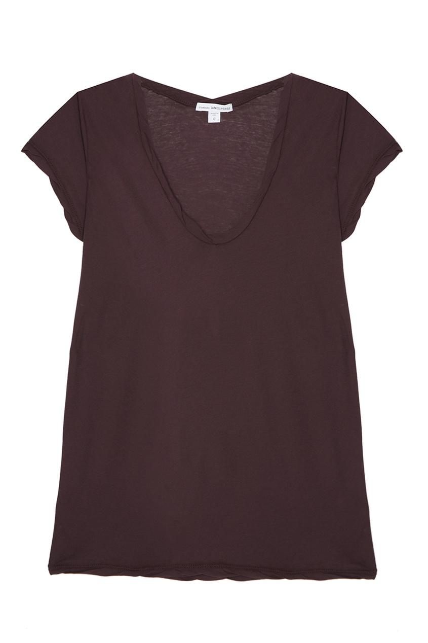 James Perse Фиолетовая футболка из хлопка
