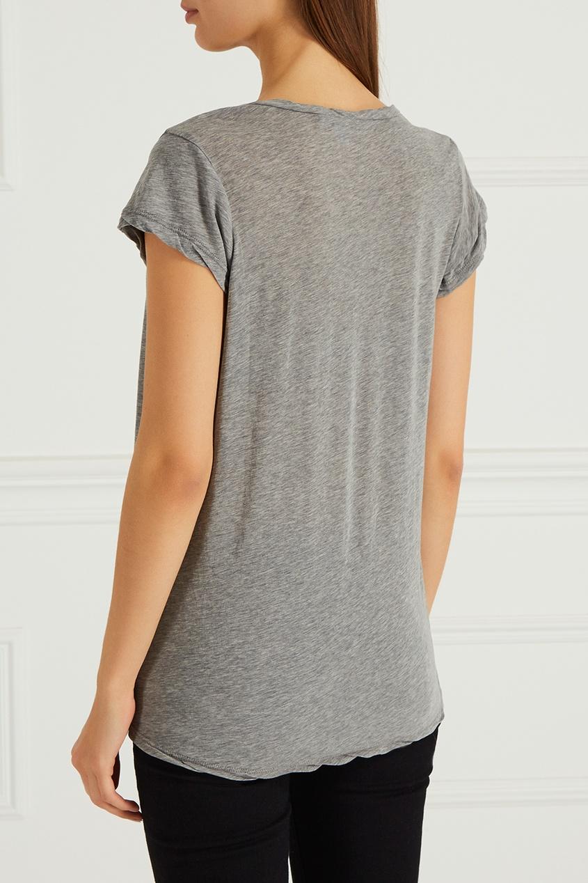 Меланжевая футболка из хлопка