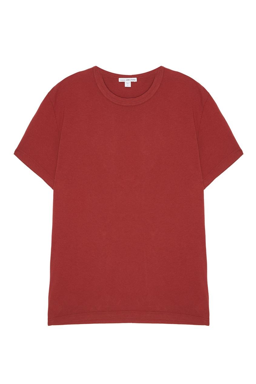 Красная футболка из хлопка