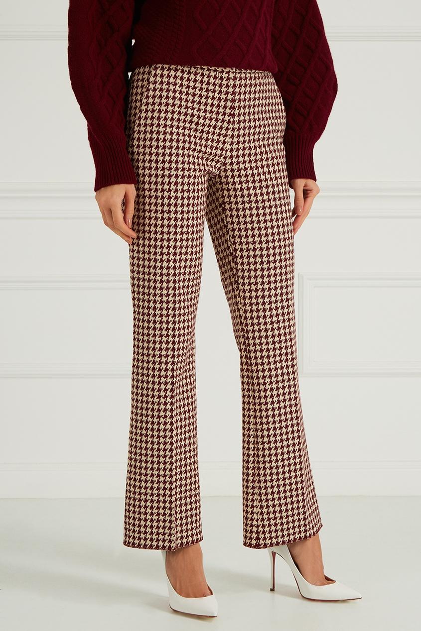 victoria beckham укороченные джинсы Victoria Beckham Хлопковые брюки в клетку