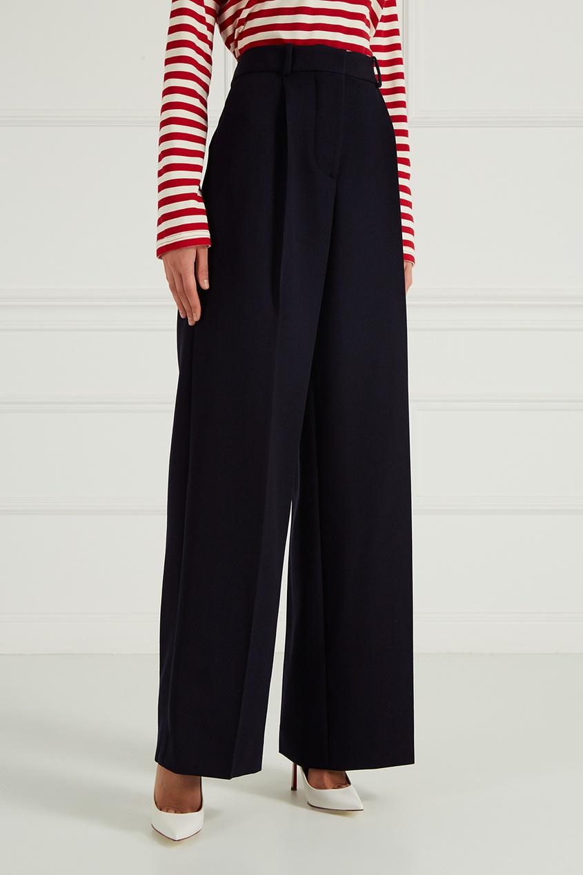 Купить со скидкой Шерстяные брюки со складками