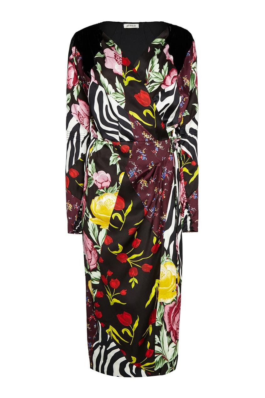 Платье в стиле пэчворк Attico 186961825 Multicolor фото