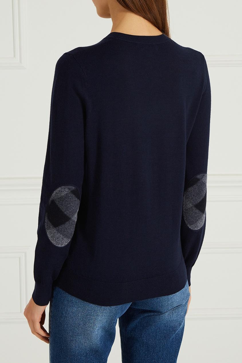 Burberry Джемпер из шерсти синий deloras джемпер с декоративными латками синий