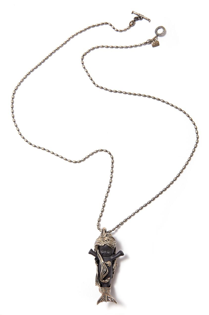 Gem Kingdom Серебряное колье с пупсом Flipper gem kingdom серебряные серьги ласточки с перламутром