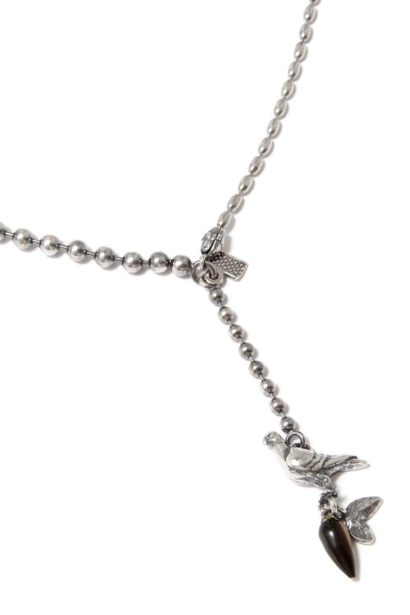 Gem Kingdom Серебряное колье с птицей gem kingdom серебряные серьги ласточки с перламутром