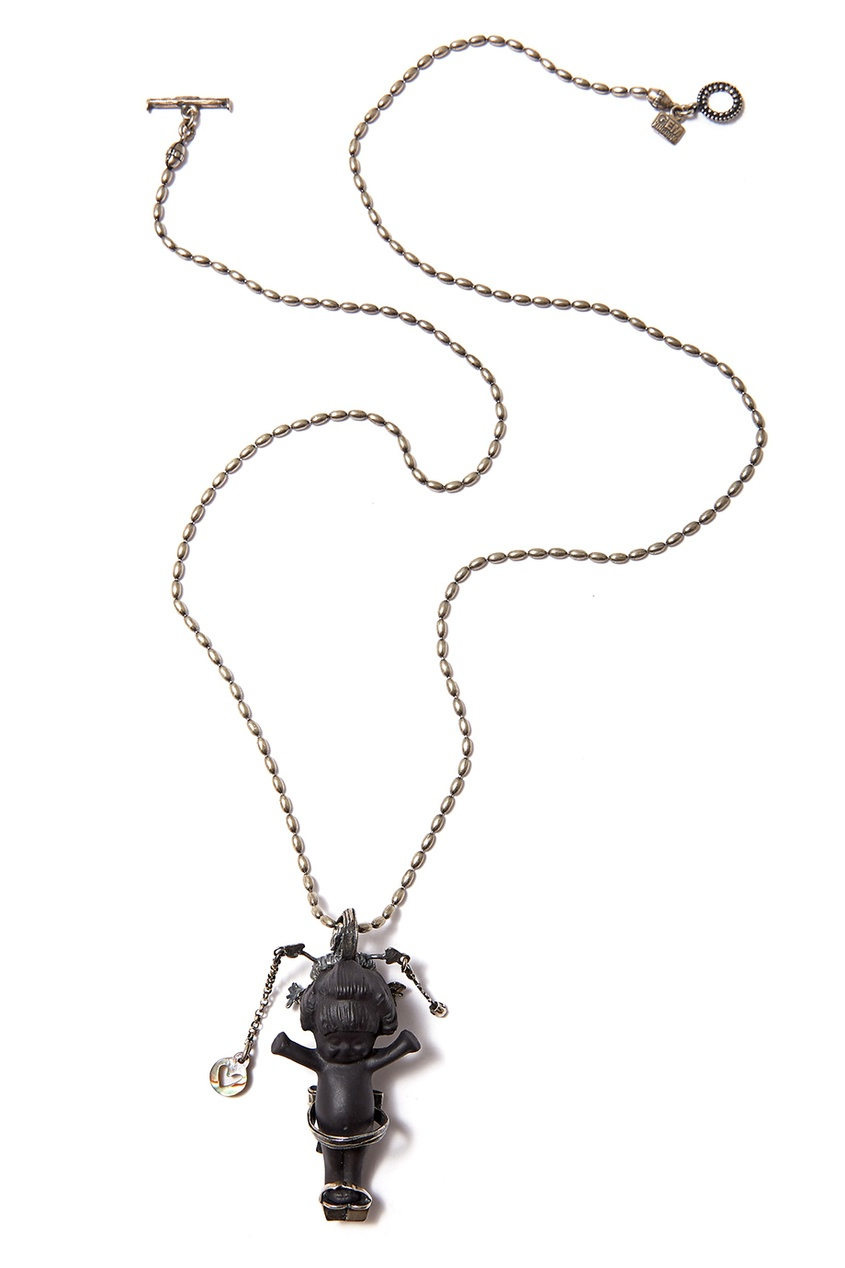 Gem Kingdom Серебряное колье с пупсом Geisha gem длинное платье