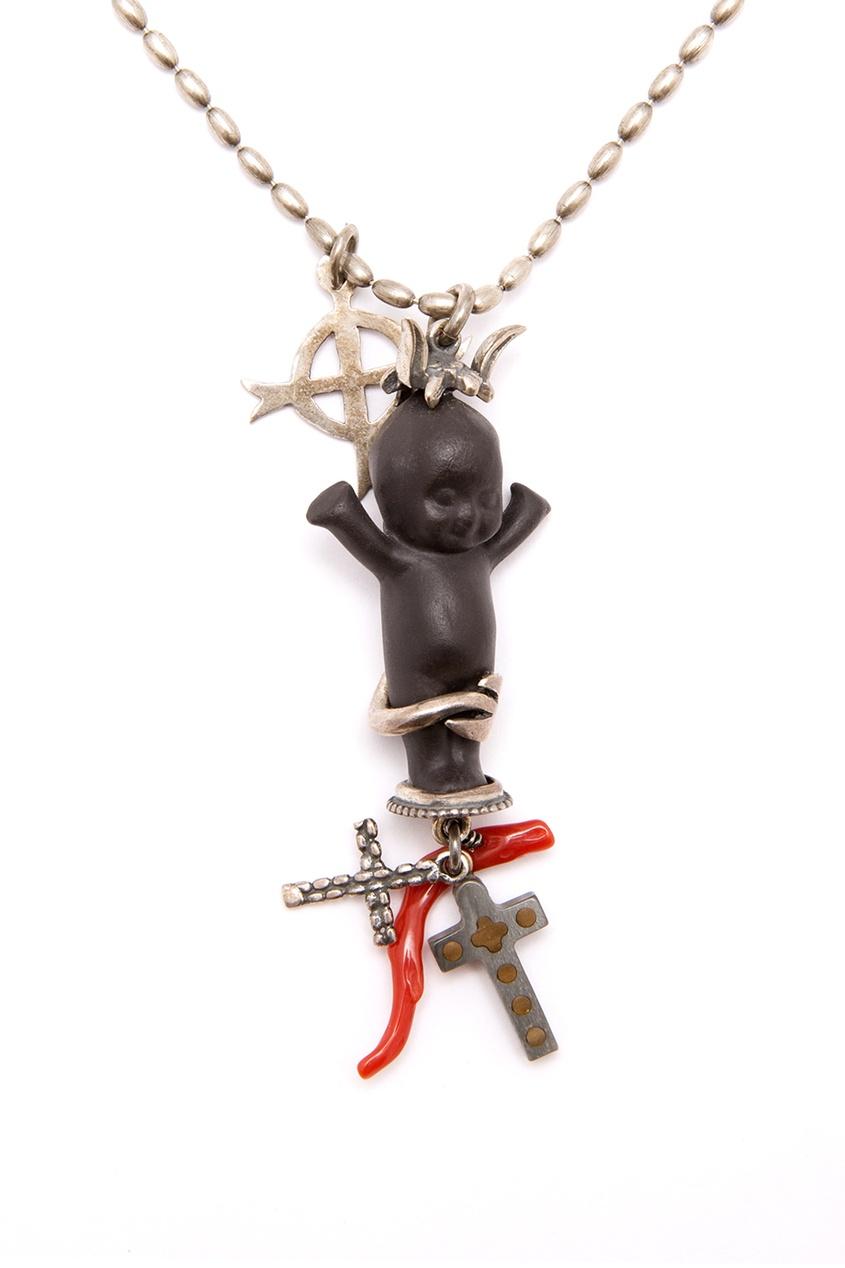 Gem Kingdom Серебряное колье Jesabella Baby gem kingdom серебряные серьги ласточки с перламутром