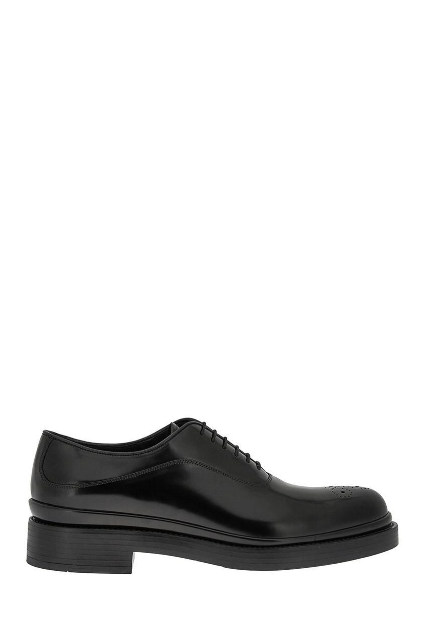 мужские туфли-оксфорды prada, черные