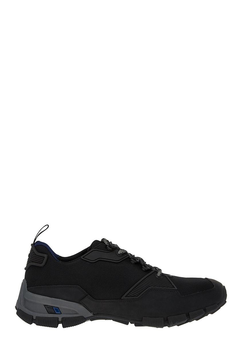 Prada Черные кроссовки из текстиля prada балетки от prada 77031