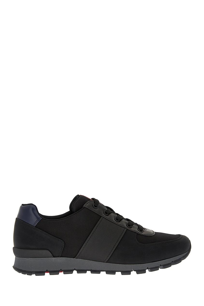 Prada Черные текстильные кроссовки