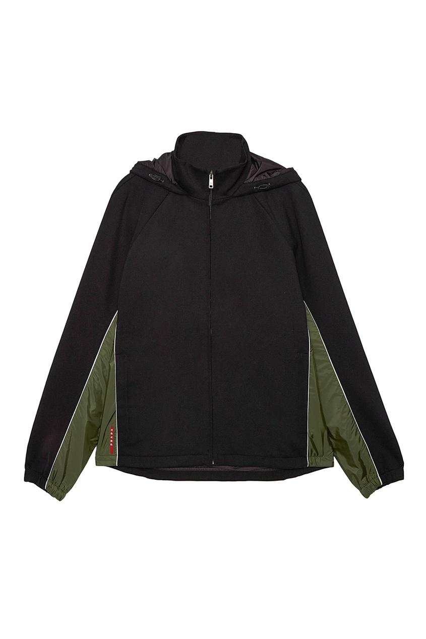 Prada Черная куртка с капюшоном игрушка good dinosaur 62006