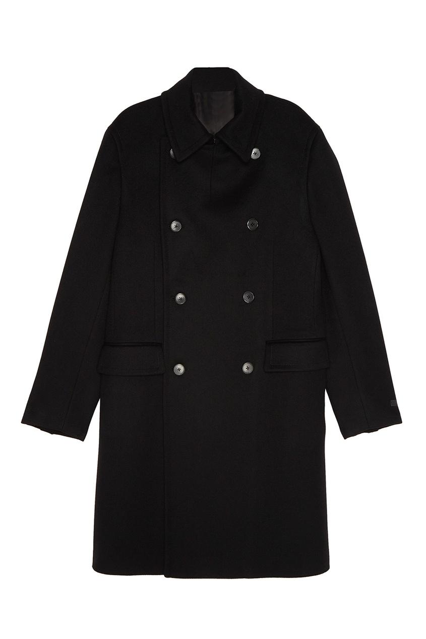 Prada Двубортное пальто из шерсти laroom двубортное полупальто из шерсти