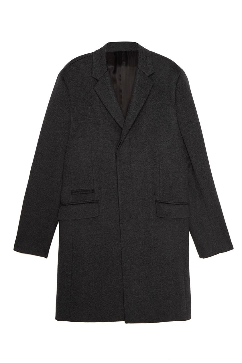 Prada Однобортное пальто из шерсти и кашемира