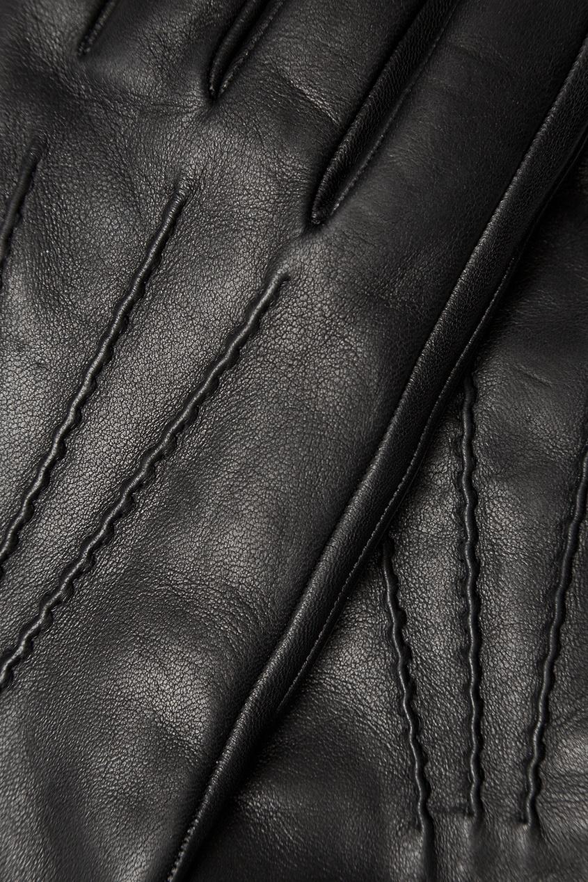Prada Черные кожаные перчатки мужские кожаные перчатки в самаре