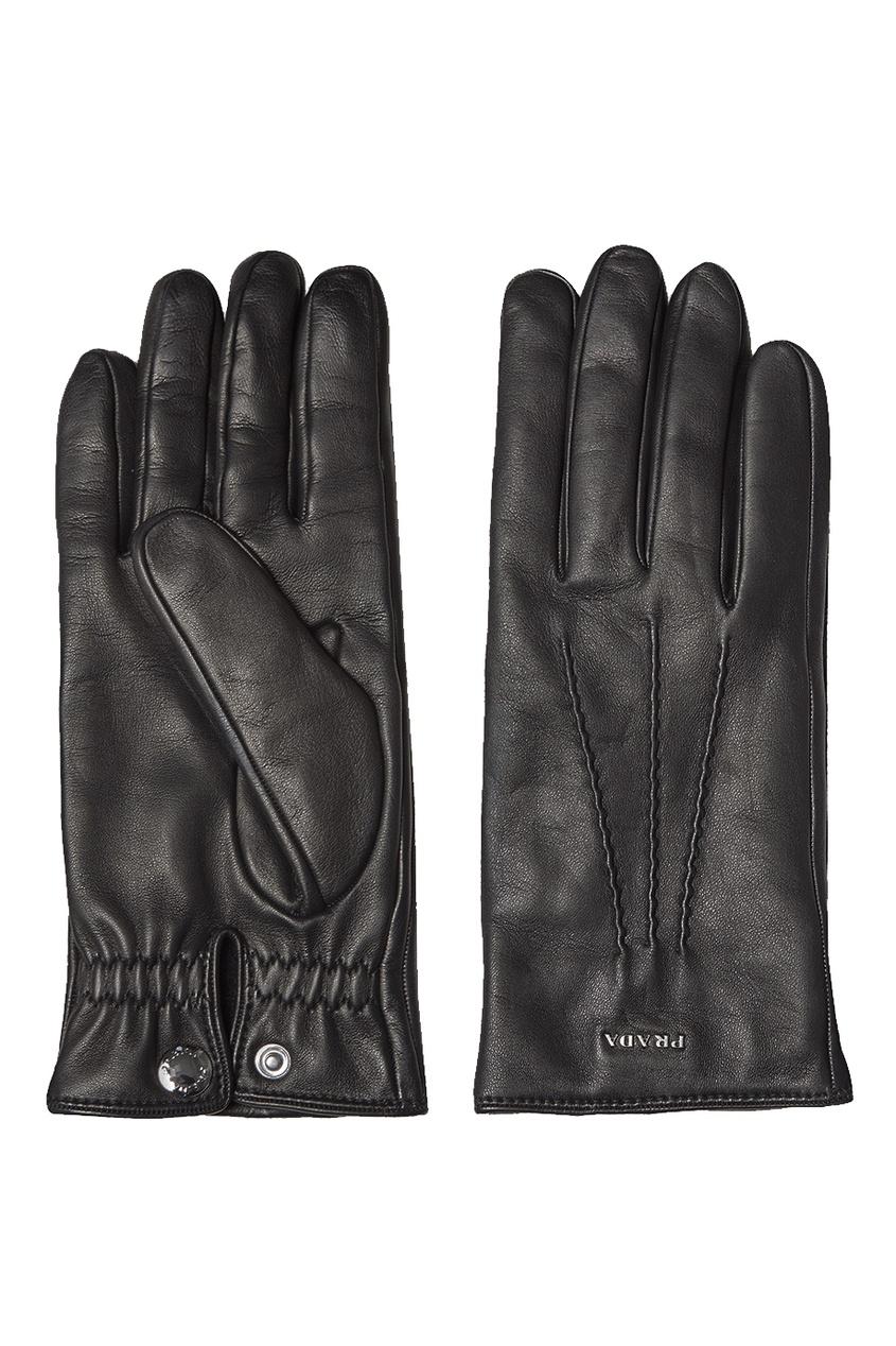 Prada Черные кожаные перчатки перчатки stella перчатки