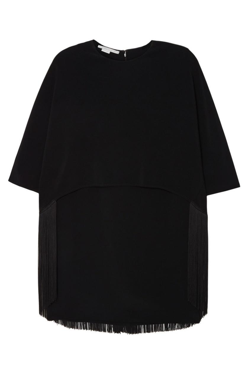 Stella McCartney Платье с бахромой