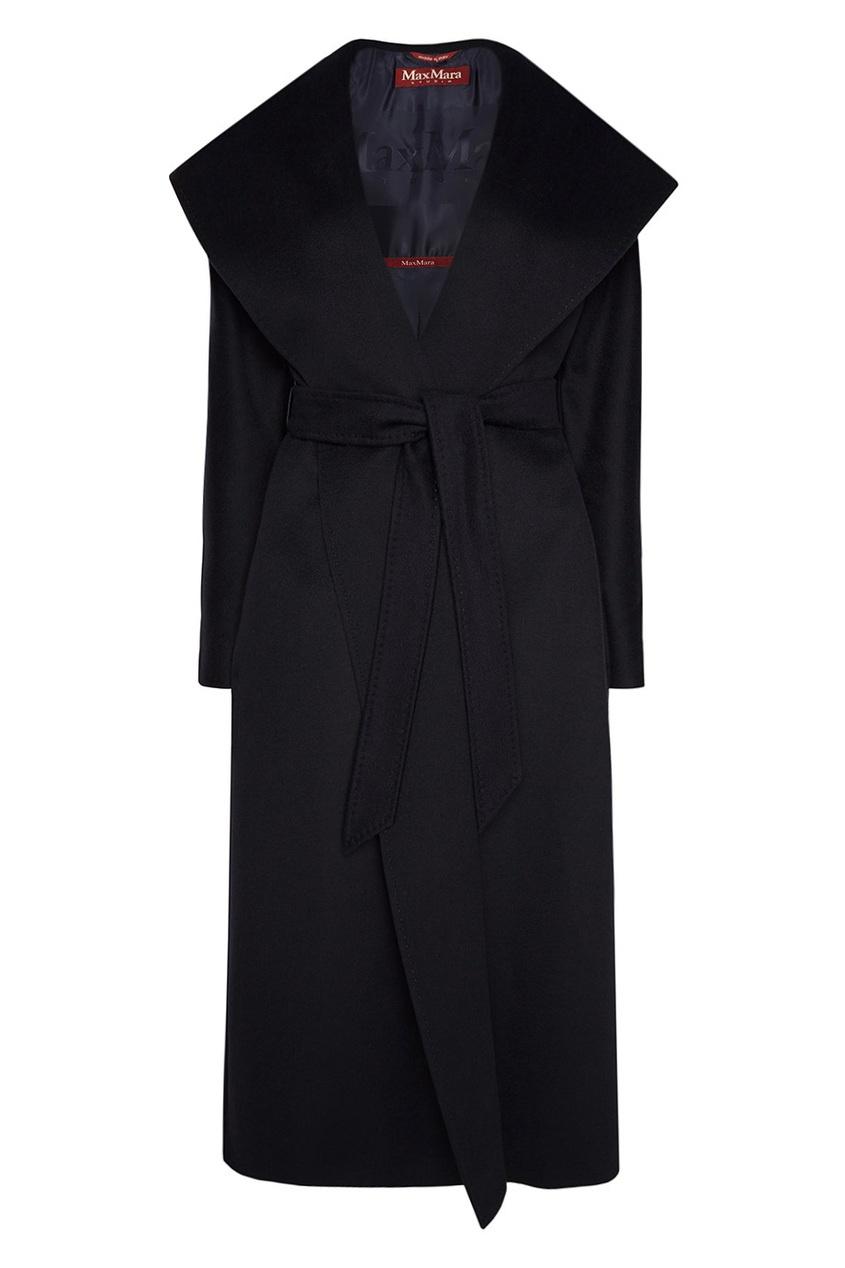 Max Mara Синее пальто с поясом Arnica пальто s max mara пальто в стиле кардигана