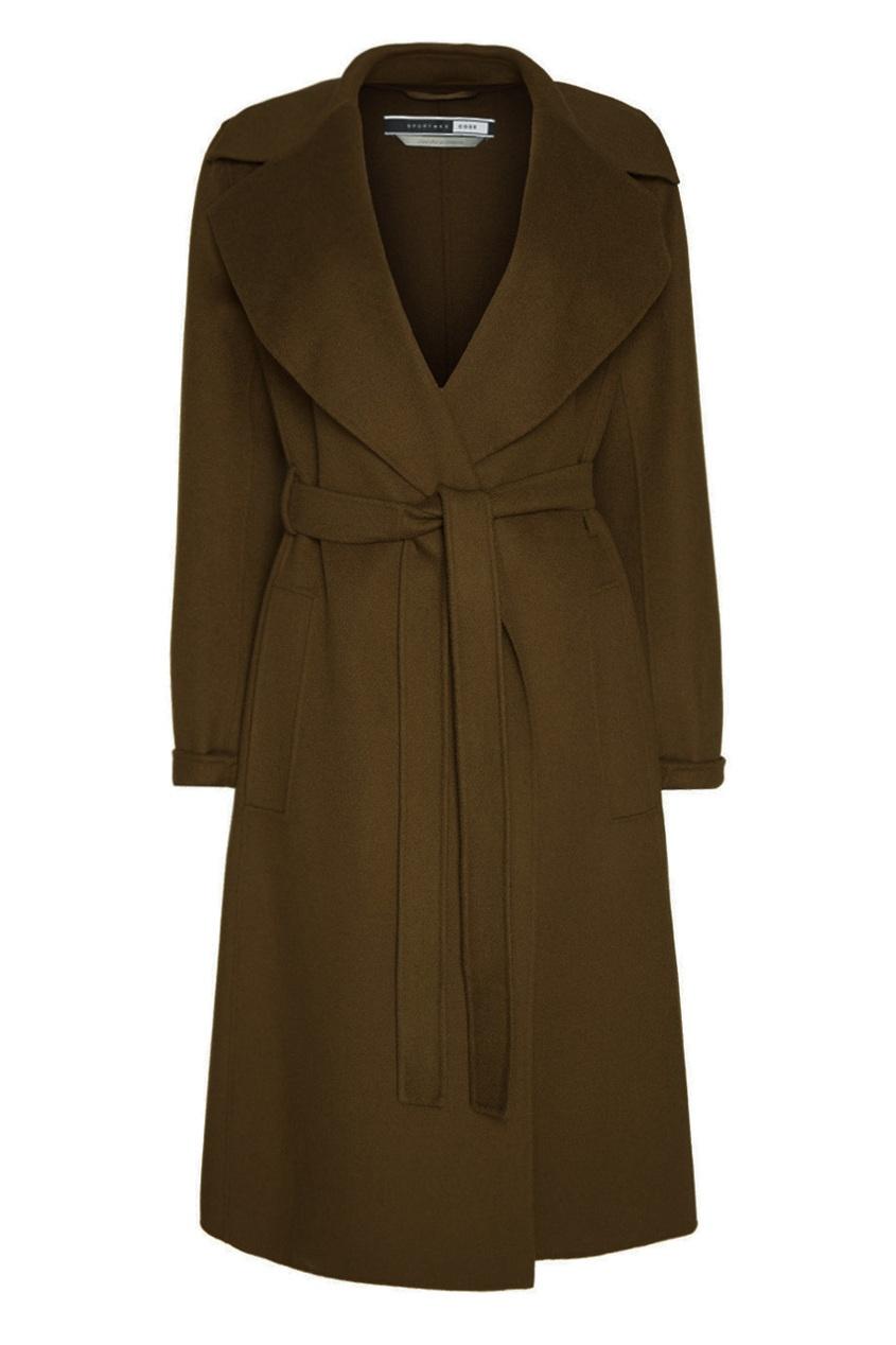 Sportmax Code Пальто с широким воротником Palk пальто из шерстяного драпа 70