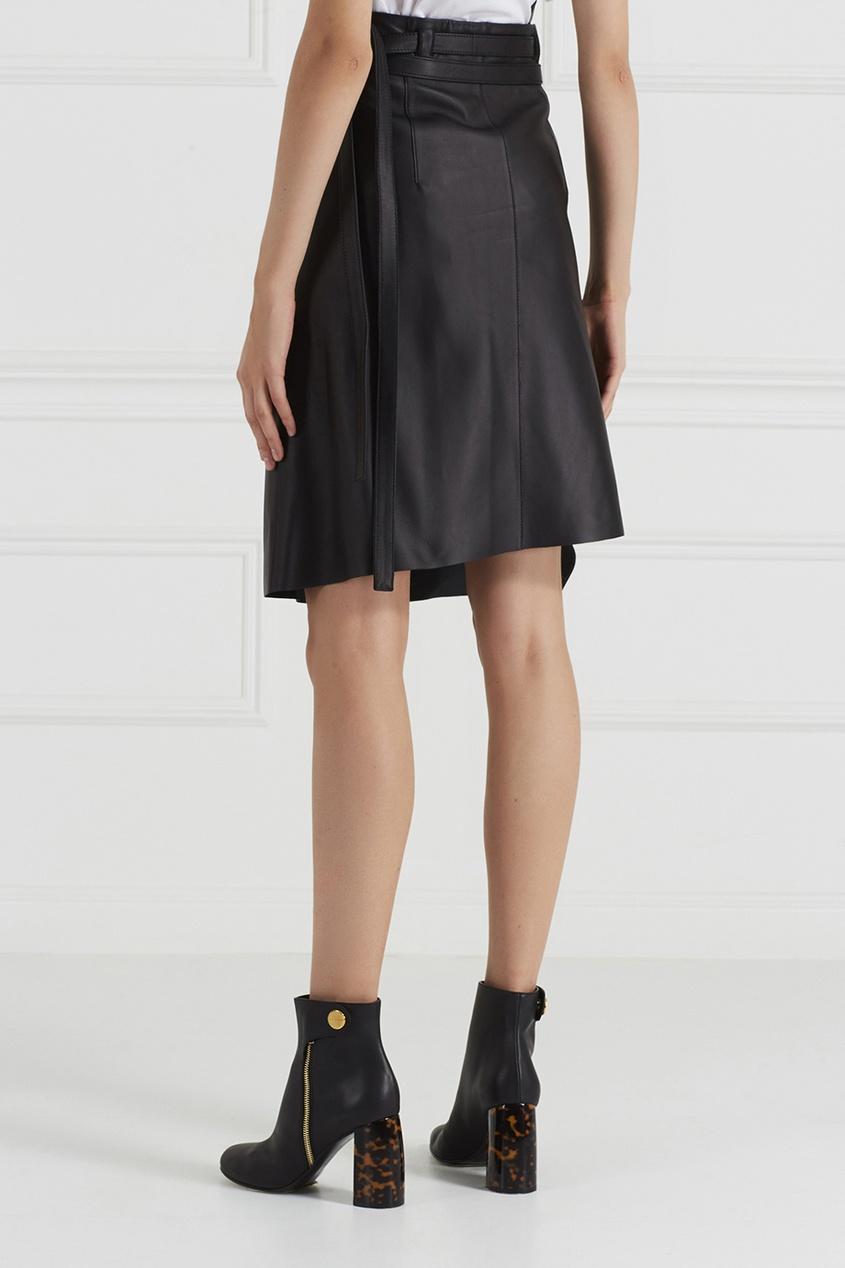 Кожаная юбка с запахом Lakos