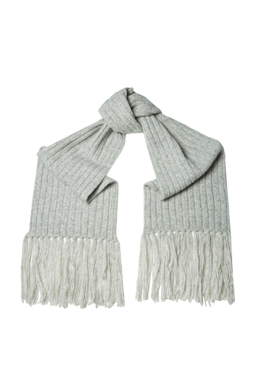 Acne Studios Серый шарф в рубчик Abby acne studios серый шарф в рубчик abby