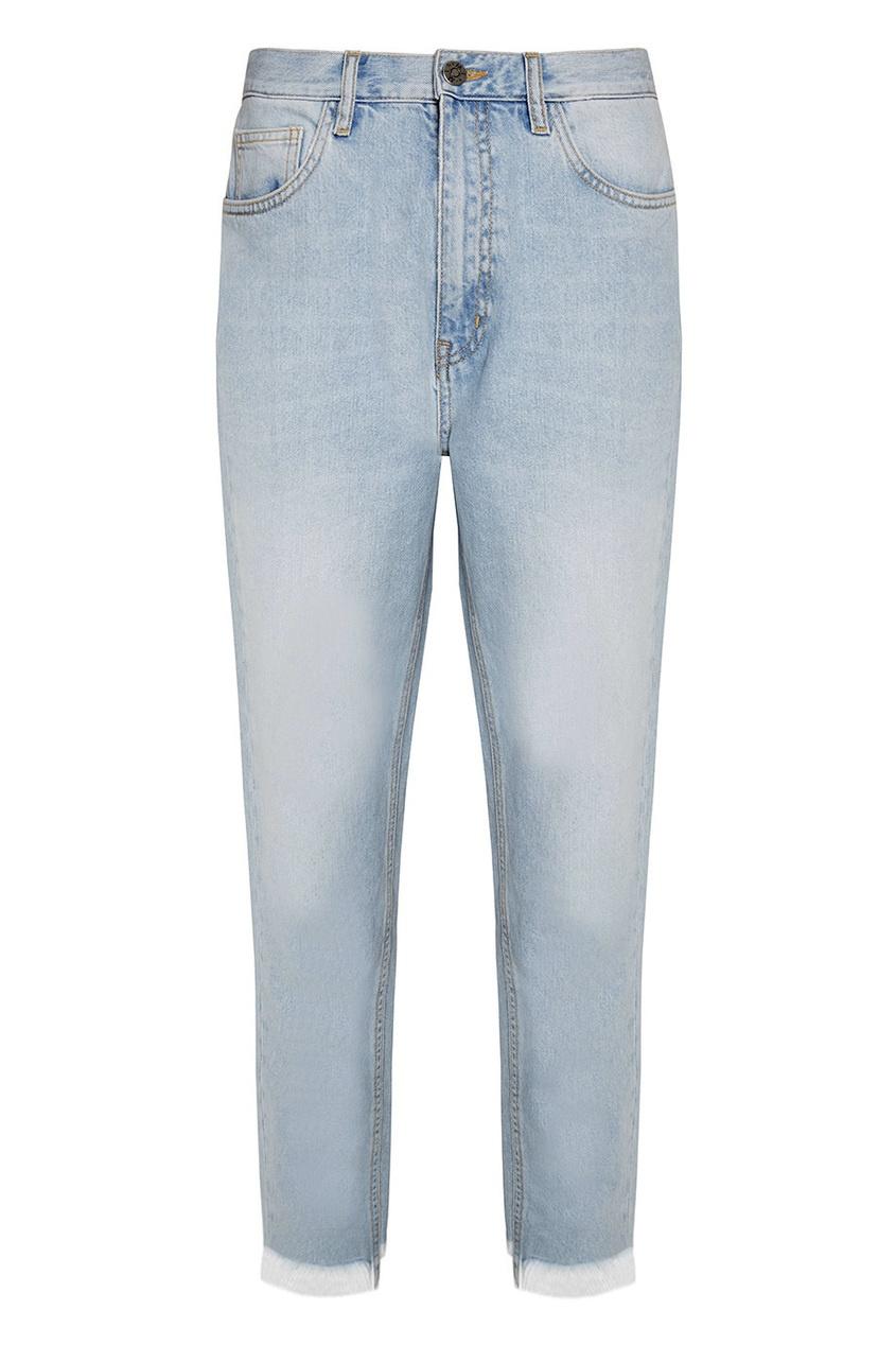 MiH jeans Светлые джинсы с бахромой