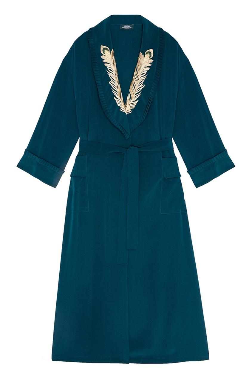 Alena Akhmadullina Платье-халат с вышивкой alena akhmadullina шерстяные брюки