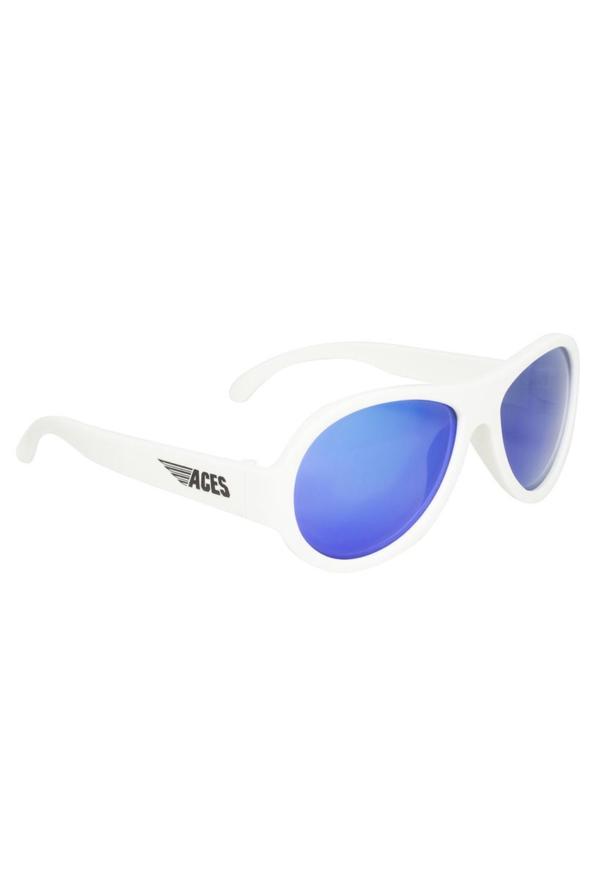Белые зеркальные очки
