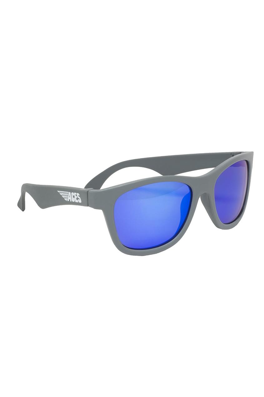Голубые зеркальные очки