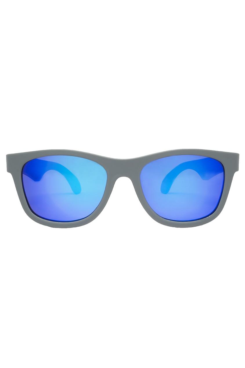 Babiators Голубые зеркальные очки солнцезащитные очки original navigator фиолетовое царство purple reign от 3 х до 5 ти лет babiators ут 00014854