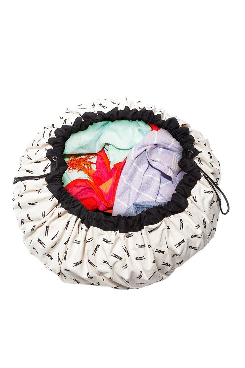 «2 в 1»: игровой коврик и мешок для игрушек