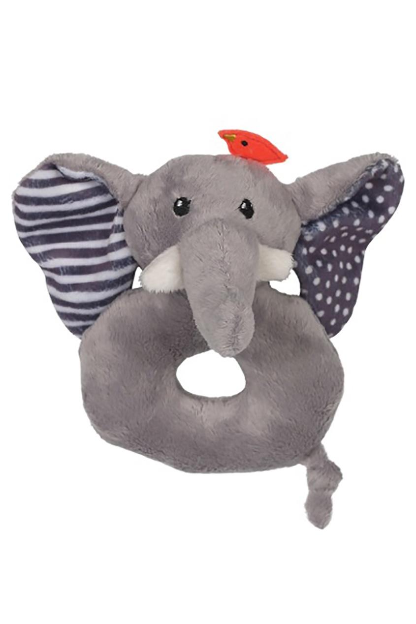 Серая погремушка в виде слона