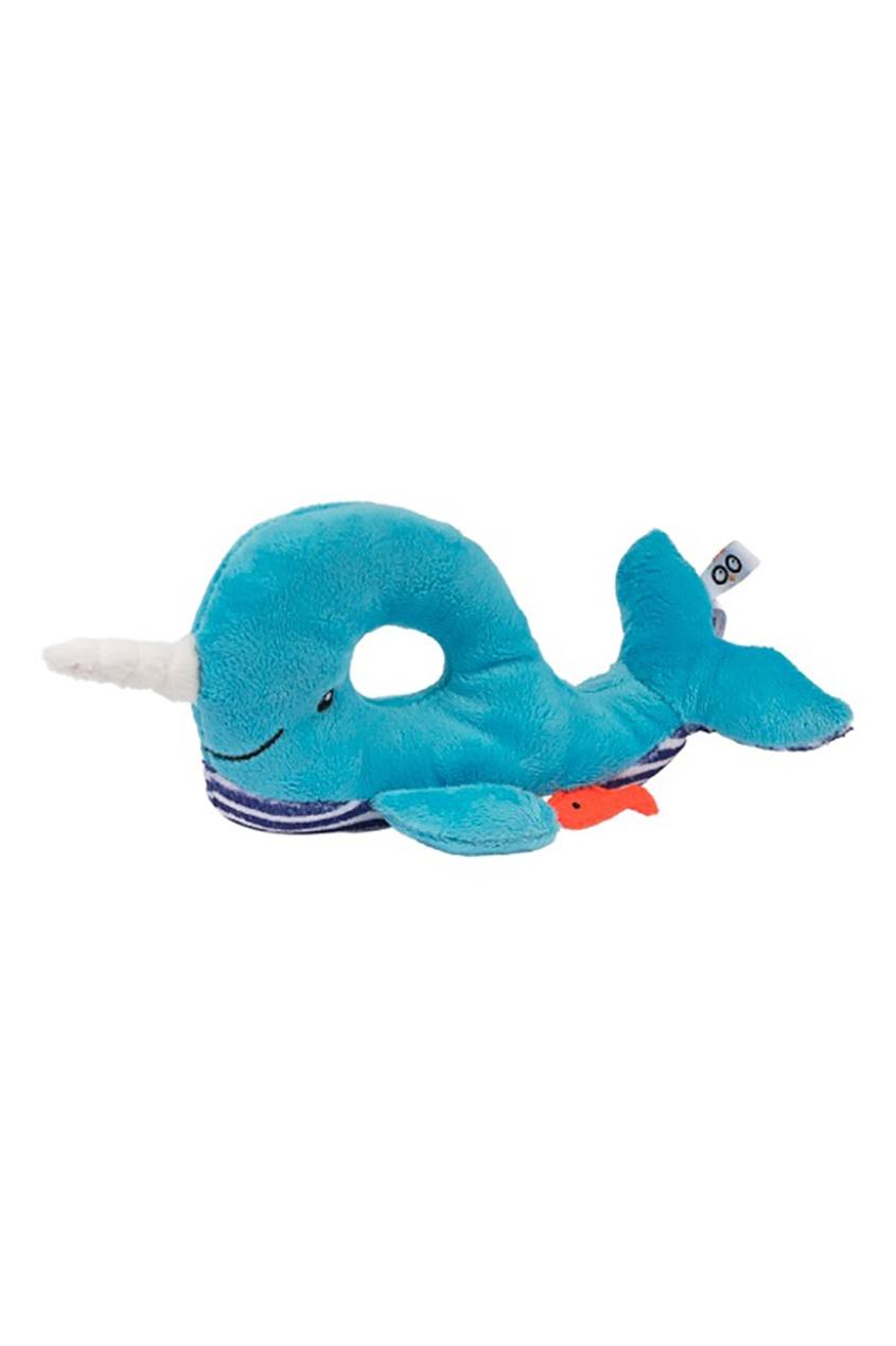 Zoocchini Синяя погремушка в виде кита эксмо погремушка цвета