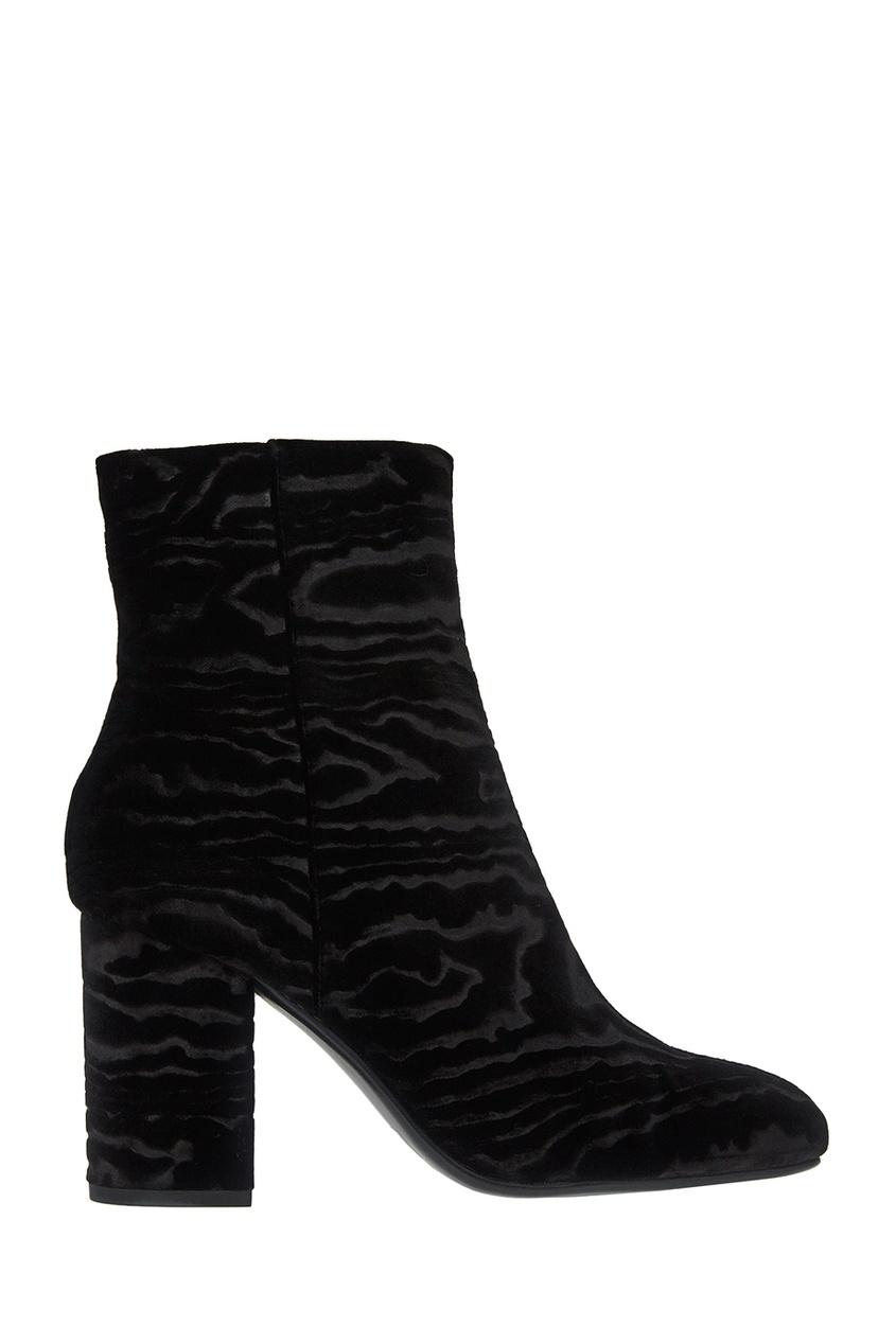 Lola Cruz Черные ботильоны из текстиля туфли lola cruz туфли