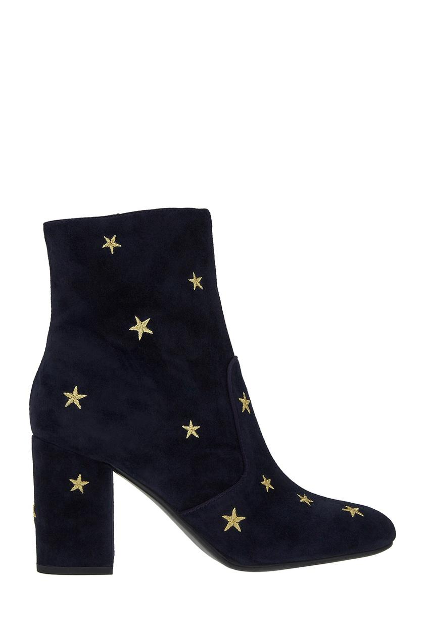 Lola Cruz Синие ботильоны со звездами босоножки lola cruz босоножки
