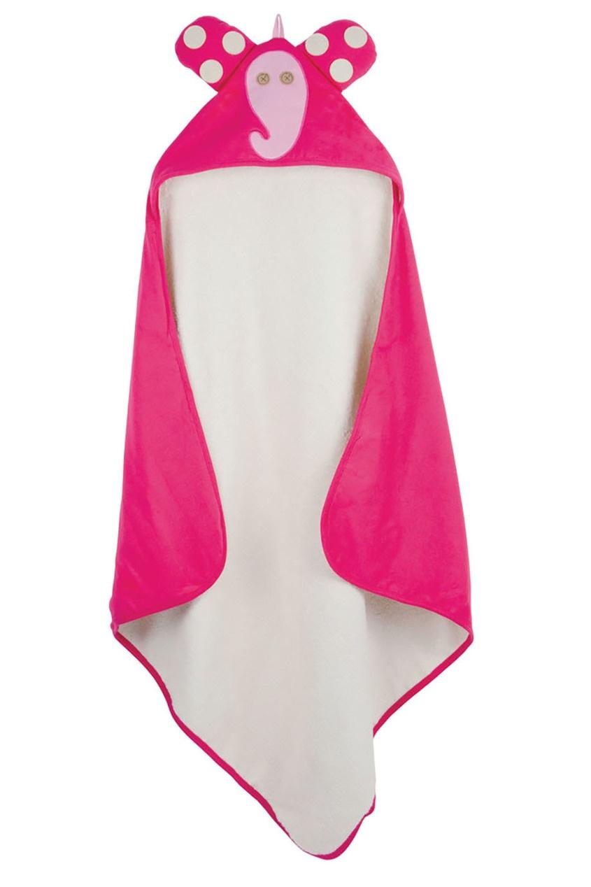 Розовое полотенце с капюшоном
