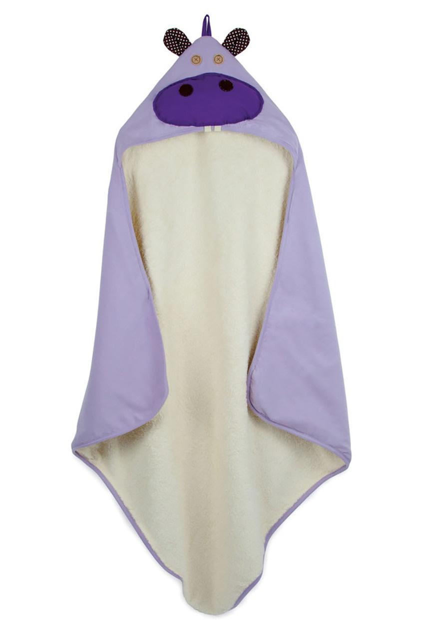 Сиреневое детское полотенце
