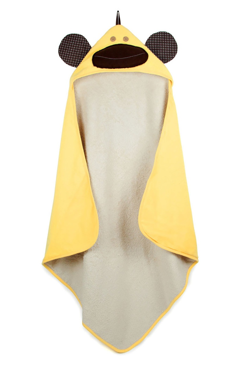 Желтое полотенце с капюшоном