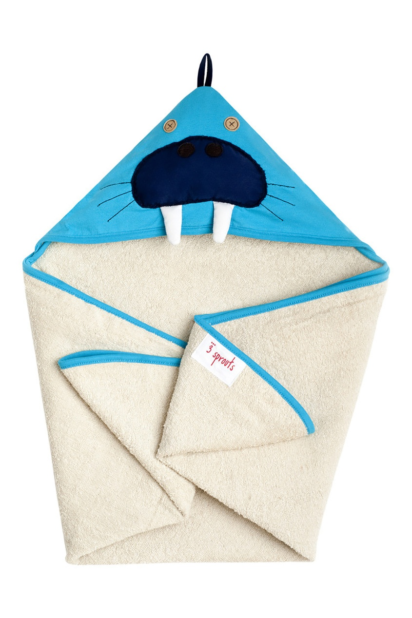 Синее полотенце с капюшоном