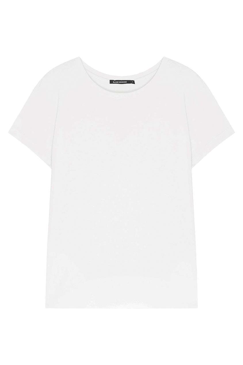 BLANK.MOSCOW Однотонная футболка футболка однотонная с открытым плечом