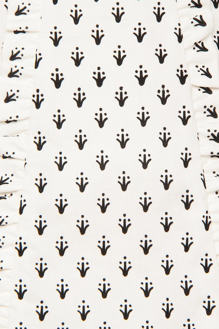 Burberry Children Хлопковая блузка с принтом сандалии beira rio сандалии