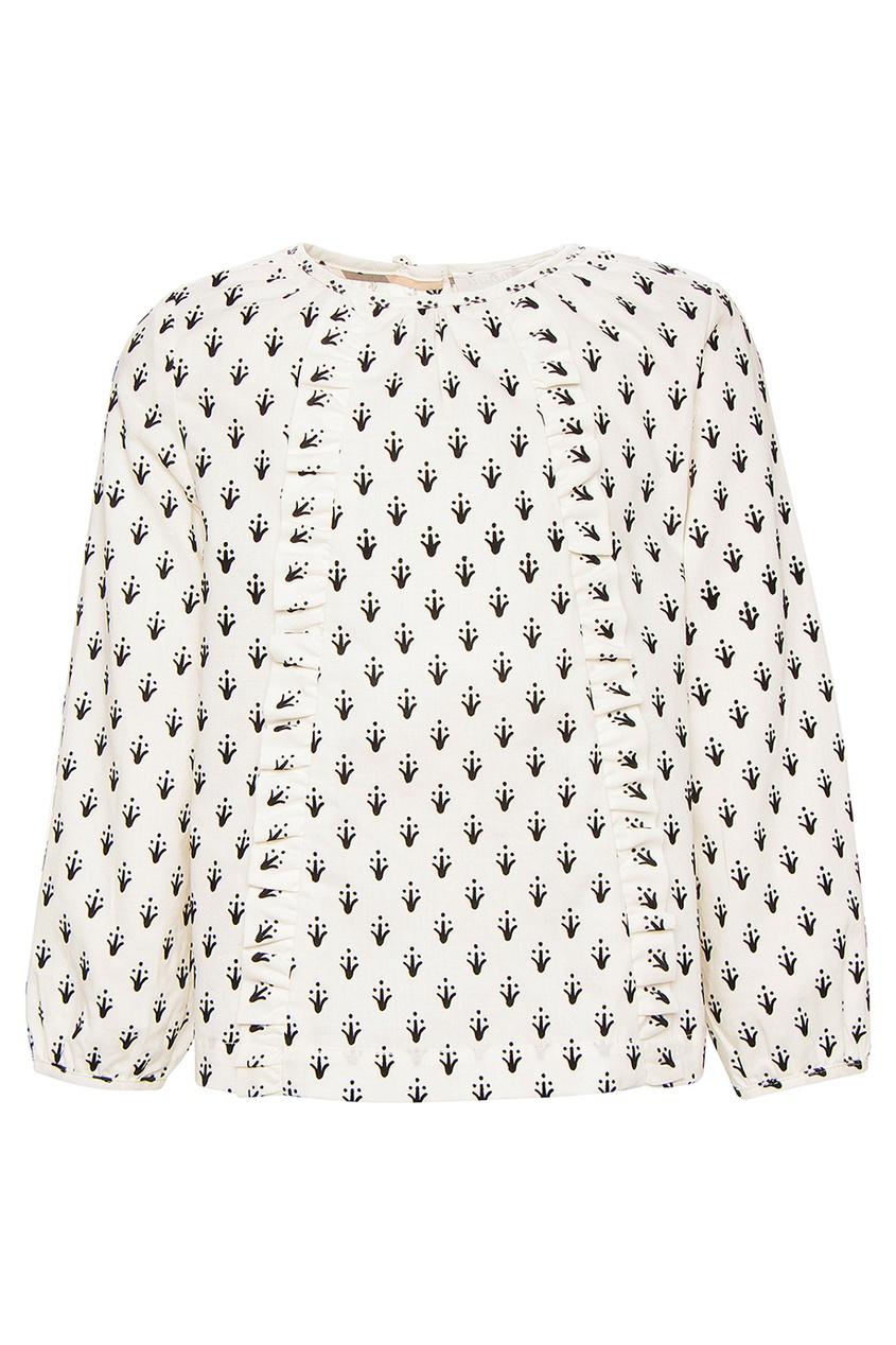 Burberry Children Хлопковая блузка с принтом