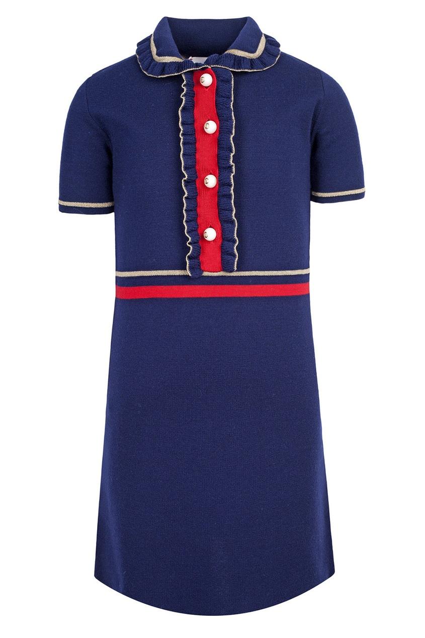 Платье-поло с оборками