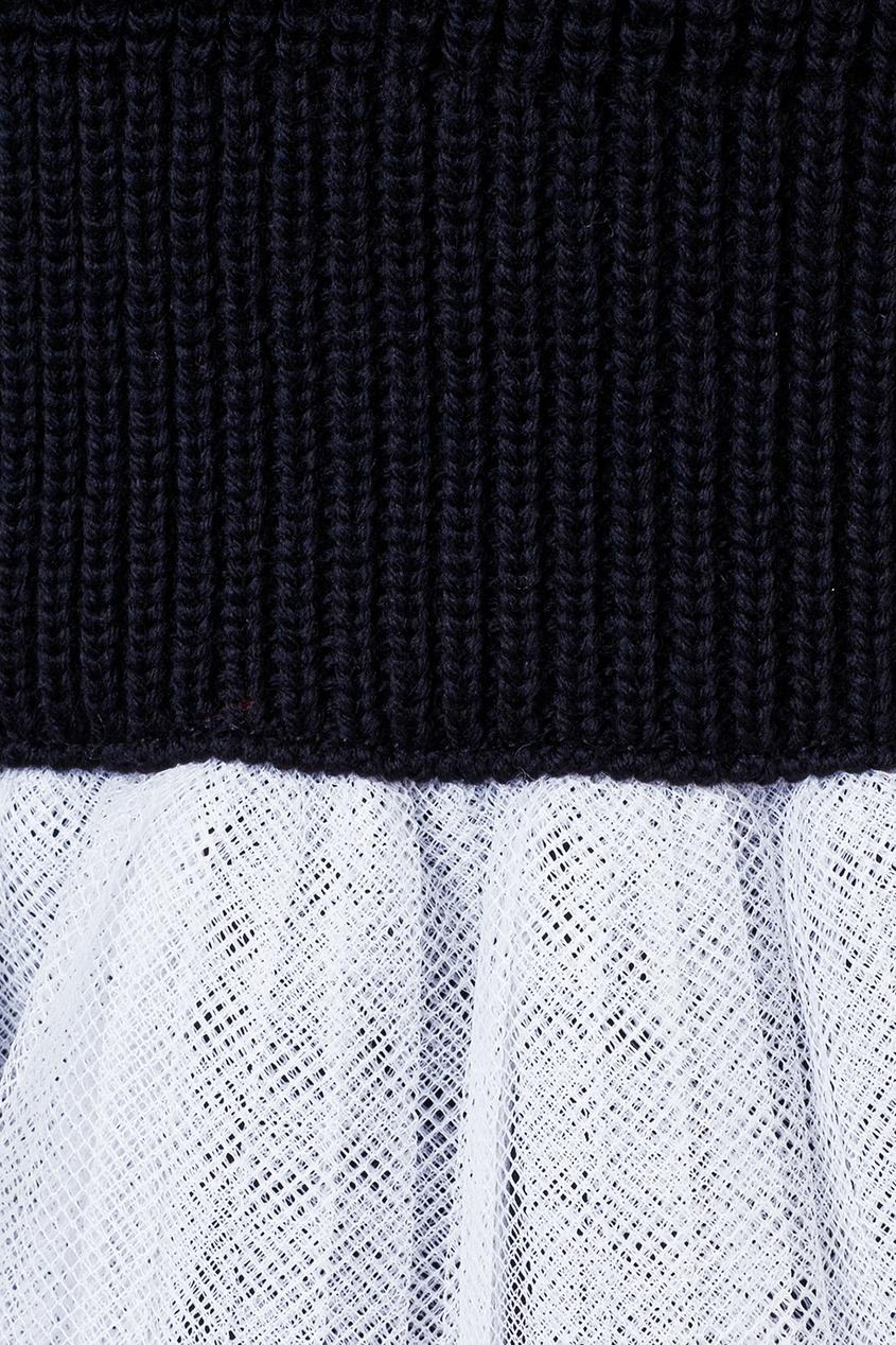 Dior Children Комбинированное платье-свитер dundas комбинированное платье со шлейфом