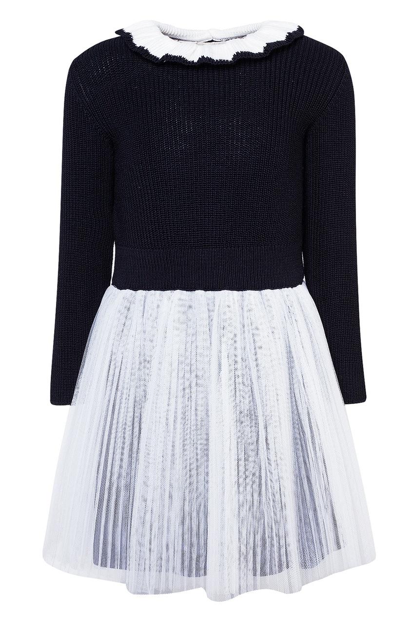 Dior Children Комбинированное платье-свитер dior children хлопковое платье