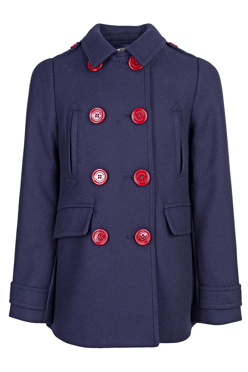 Burberry Children Двубортное пальто burberry хлопковое пальто