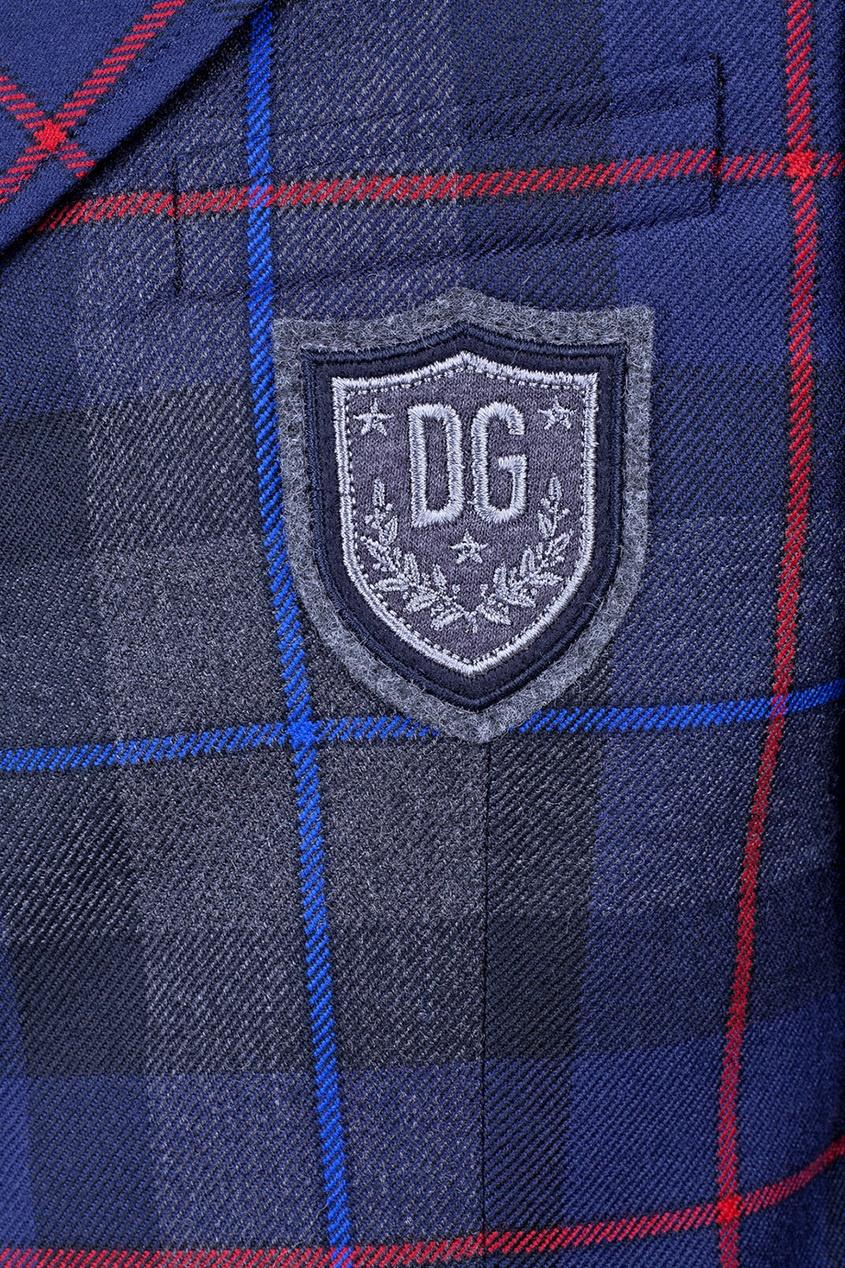 костюм с короткими штанами dolce & gabbana костюм с короткими штанами Dolce&Gabbana Children Шерстяной пиджак с аппликацией
