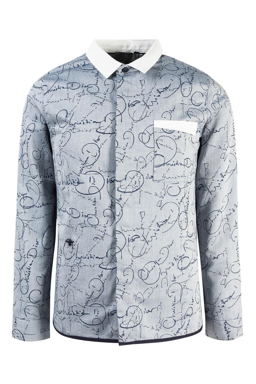 Рубашка с графичным принтом