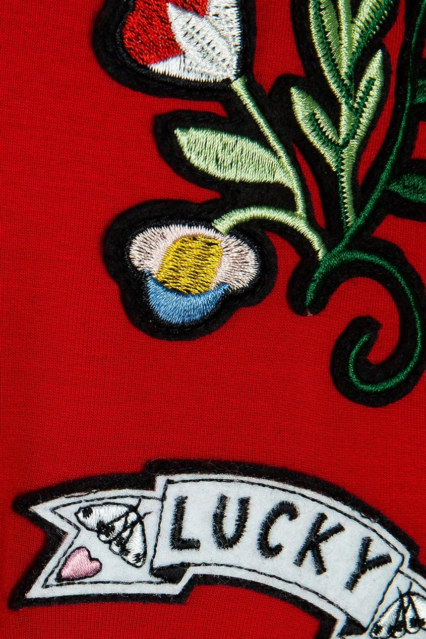 ermanno scervino однотонное платье Ermanno Scervino Children Платье-толстовка с вышивкой
