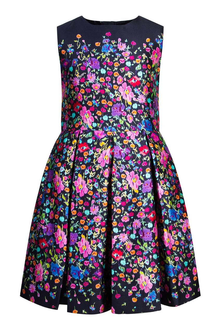 Oscar de la Renta Children Платье с цветочным узором люстра colosseo 82406 4c oscar